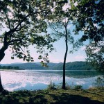 小沼湖畔と夕日撮影スポット