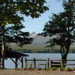 湖畔の駐輪場